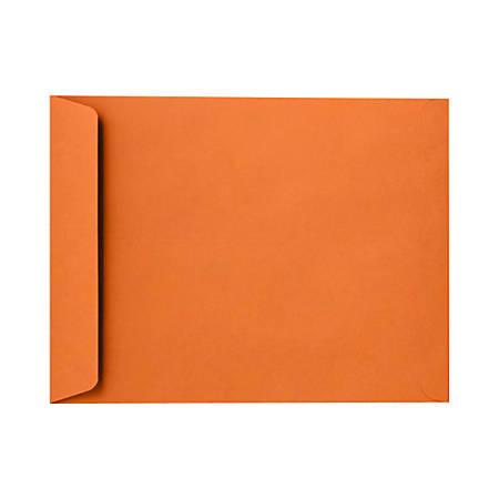 "LUX Open-End Envelopes With Peel & Press Closure, 10"" x 13"", Mandarin Orange, Pack Of 50"