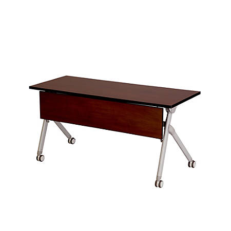 "Safco® Tango™ Nesting Table, Rectangle, 60""H, Persian Cherry/Silver"