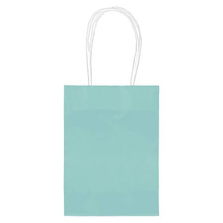 "Amscan Kraft Paper Bags, 5-1/8""H x 4""W x 2""D, Robin's Egg Blue, Pack Of 24 Bags"