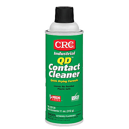 CRC QD™ Contact Cleaner, 11 Oz Aerosol Can, Clear
