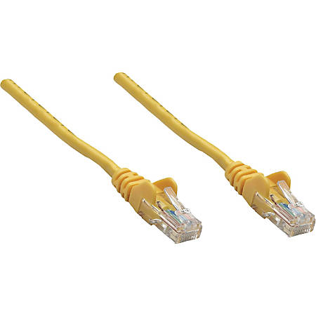 Intellinet Network Solutions Cat5e UTP Network Patch Cable, 7 ft (2.0 m), Yellow - RJ45 Male / RJ45 Male