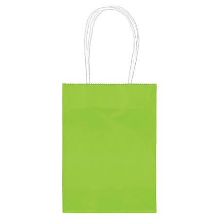 "Amscan Kraft Paper Bags, 5-1/8""H x 4""W x 2""D, Kiwi Green, Pack Of 24 Bags"