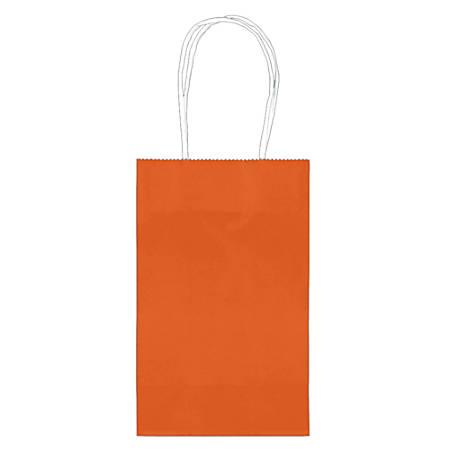 "Amscan Paper Solid Cub Gift Bags, 8-1/4""H x 5-1/4""W x 3-1/4""D, Orange Peel, Pack Of 40 Bags"