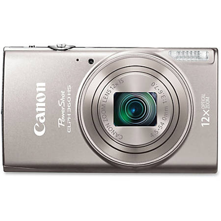 "Canon PowerShot 360 HS 20.2 Megapixel Compact Camera - Silver - 3"" LCD - 12x Optical Zoom - 4x Digital Zoom - Optical (IS) - 5184 x 3888 Image - 1920 x 1080 Video - HD Movie Mode - Wireless LAN"
