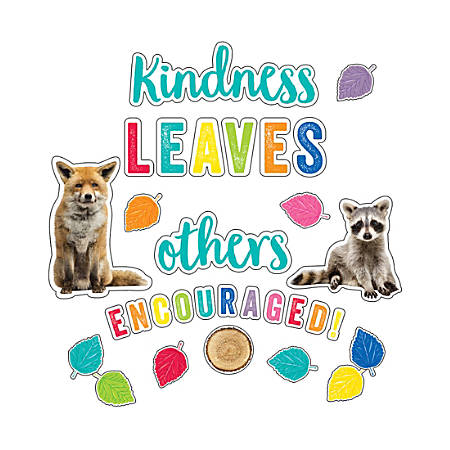 Schoolgirl Style Woodland Whimsy Kindness Leaves Others Encouraged Bulletin Board Set