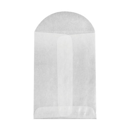 "LUX Open-End Coin Envelopes With Flap Closure, #1, 2 1/4"" x 3 1/2"", Glassine, Pack Of 500"