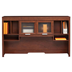 Realspace Marbury Collection Hutch Auburn Brown