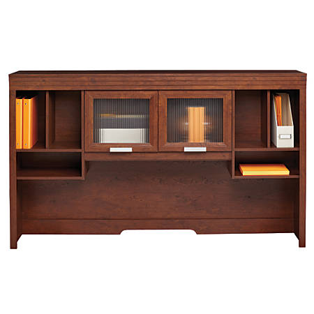 Realspace® Marbury Collection Hutch, Auburn Brown