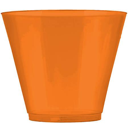 Amscan Plastic Cups, 9 Oz, Orange Peel, 72 Cups Per Pack, Set Of 2 Packs