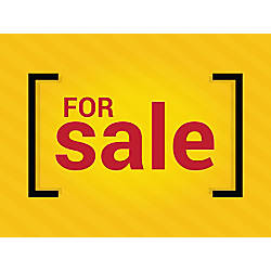 Customizable Yard Sign For Sale Yellow