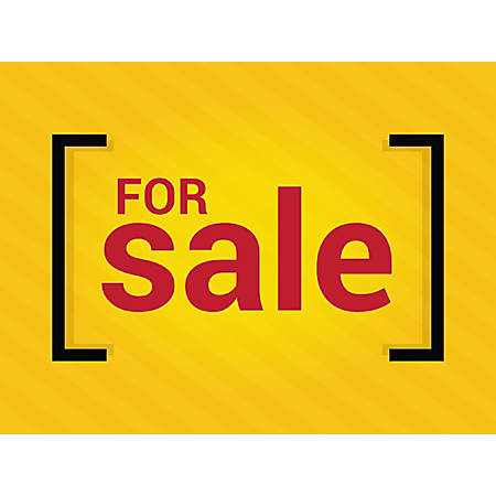 "Customizable Yard Sign, For Sale Yellow, 18"" x 24"""
