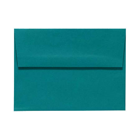 """LUX Invitation Envelopes With Peel & Press Closure, A2, 4 3/8"""" x 5 3/4"""", Teal, Pack Of 50"""