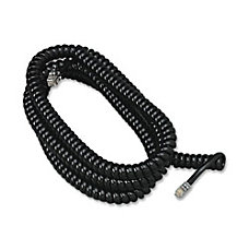 Softalk Phone Coil Cord 25 Black