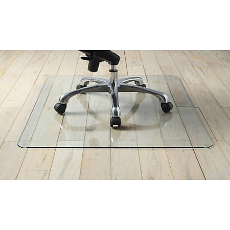 Lorell Tempered Glass Chair Mat 36 X 46 Clear Office Depot