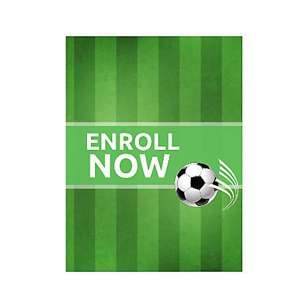Plastic Sign, Soccer Green, Vertical