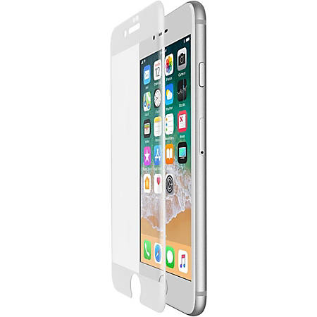 Belkin ScreenForce Screen Protector White - For LCD iPhone 7 Plus, iPhone 8 Plus - Drop Resistant, Impact Resistant, Scratch Resistant, Scuff Resistant - Tempered Glass - White