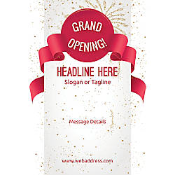 Adhesive Sign Grand Opening Celebration Vertical