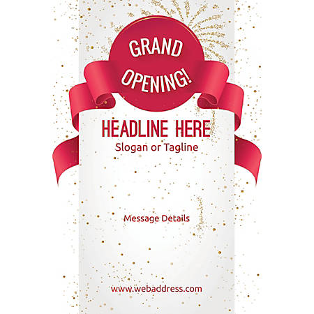 Adhesive Sign, Grand Opening Celebration , Vertical