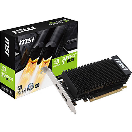 MSI GT 1030 2GH LP OC Graphic Card GDDR5 - Low-profile - DisplayPortHDMI - PC