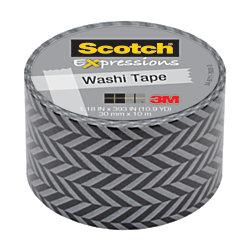 """Scotch® Expressions Washi Tape, 1 3/16"""" x 393"""", Zig Zag"""