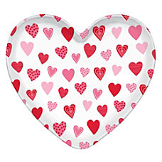 Amscan Heart Shaped Plastic Valentines Day