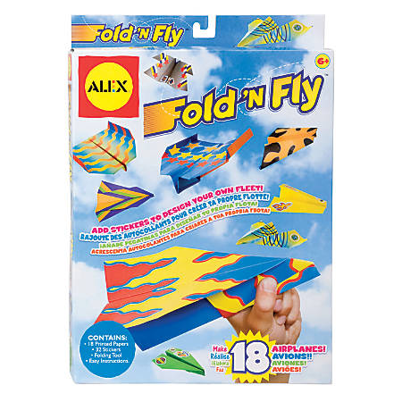 Alex by Panline Fold N Fly Paper Airplanes Kit