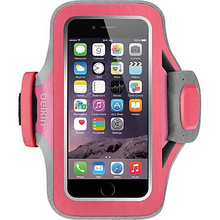 Belkin Slim-Fit Plus Carrying Case (Armband) Apple iPhone Smartphone - Fuchsia - Neoprene, Fabric - Armband