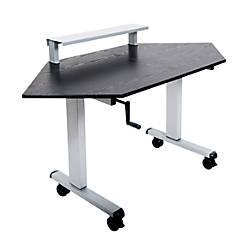 Luxor Crank Adjustable Standing Corner Desk