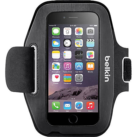 Belkin Sport-Fit Carrying Case (Armband) Apple iPhone Smartphone - Blacktop, Overcast - Neoprene