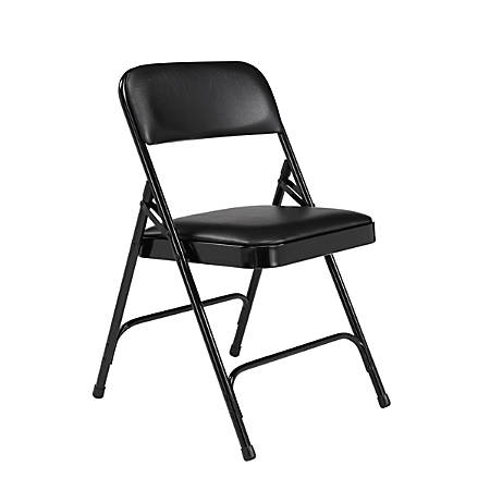 National Public Seating Series 1200 Folding Chairs, Black, Set Of 4 Chairs
