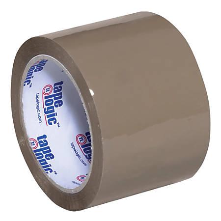 "Tape Logic® Acrylic Sealing Tape, 3"" Core, 3"" x 55 Yd., Tan, Pack Of 6"
