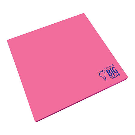 "So-Mine Jumbo Sticky Notes, 7-1/2"" x 7-1/2"", Assorted Colors, 50 Sheets Per Pad"