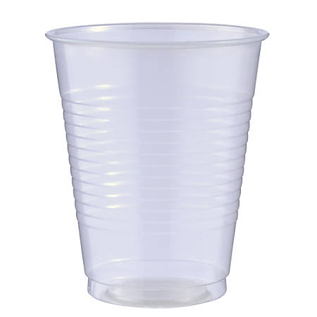 Amscan Big Party Pack Plastic Cups, 16 Oz, Clear, Pack Of 50 Cups, Case Of 4 Packs