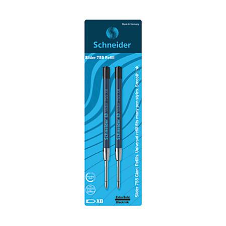 Schneider Slider XB Giant Ballpoint Pen Refills, Extra-Bold Point, 1.4mm, Black Ink, Pack Of 2