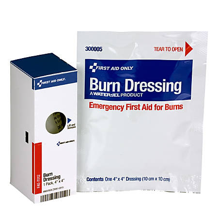 "First Aid Only® SmartCompliance® Burn Dressing Refill, 4"" x 4"", White"