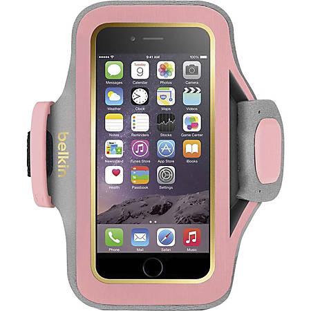 Belkin Slim-Fit Plus Carrying Case (Armband) Apple iPhone 6 Smartphone - Cherry Blossom - Neoprene, Fabric - Armband