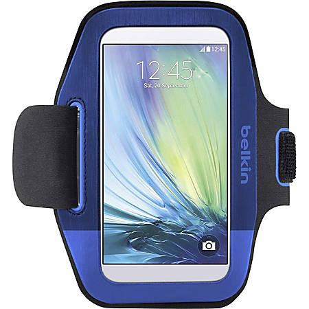 Belkin Sport-Fit Carrying Case (Armband) Smartphone - Blue - Neoprene - Armband