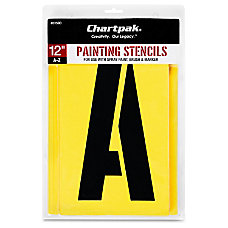 Chartpak Painting Stencils 12 Gothic Capital