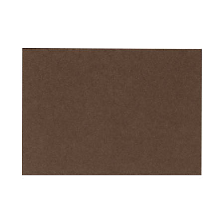 """LUX Flat Cards, A9, 5 1/2"""" x 8 1/2"""", Chocolate Brown, Pack Of 50"""