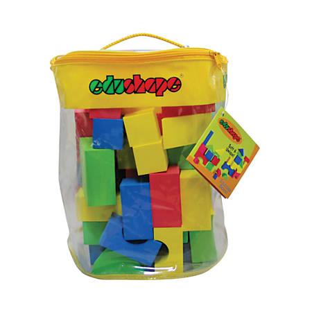 Edushape Textured Blocks, Grades Pre-K - 4, Pack Of 80