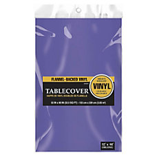 Amscan Flannel Backed Table Covers 52