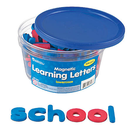 Learning Resources Foam Magnetic Lowercase Letters, Red/Blue, Pack Of 104