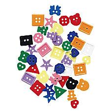 ChenilleKraft Plastic Buttons 1 Pack Multicolor
