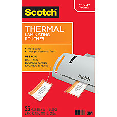 Scotch TP5853 25 Thermal Pouches 2