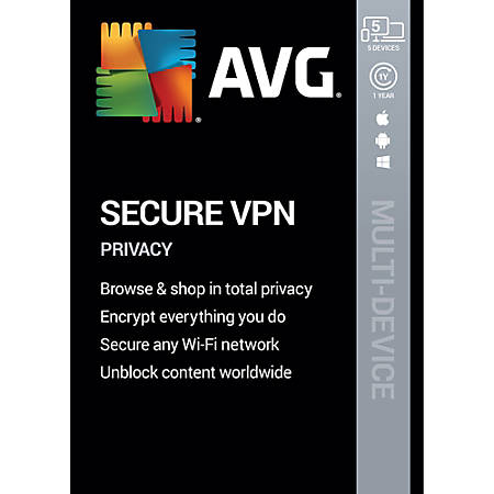 AVG Secure VPN 2020   5 Devices 1 Year   Download
