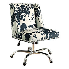 Linon Cooper Mid Back Chair Black