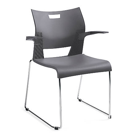 "Global® Duet™ Stacking Armchair, 32 1/4""H x 25 1/2""W x 23""D, Chrome"