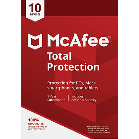 McAfee® Total Protection, For 10 PC And Apple® Mac® Devices, eCard