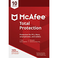 McAfee Total Protection For 10 Devices