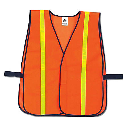 Ergodyne GloWear Safety Vest, Hi-Gloss Non-Certified, Orange, 8040HL